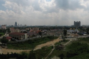View from the balcony of our apartment in Kuala Lumpur, Malaysia